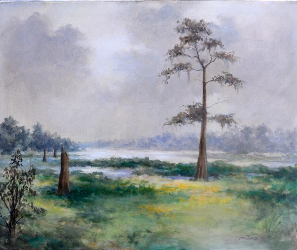 "Misty Bayou<br>original acrylic painting on stretched canvas<br>24"" x 30"",<br>$975.00, S/H $45.00"