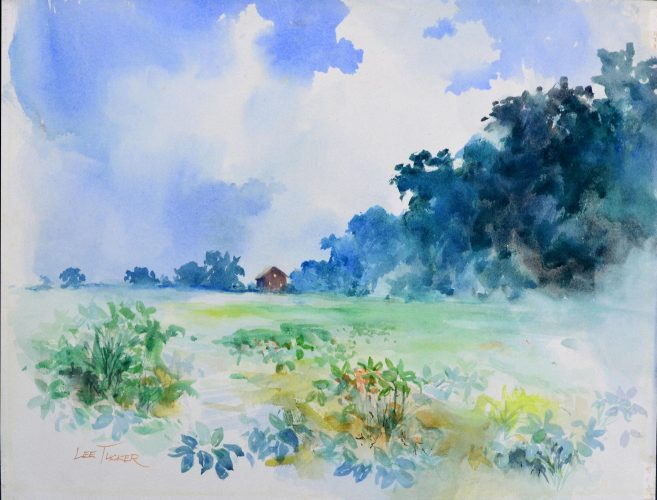 "Bean Field<br>original watercolor, 18"" x 24"", $495.00, S/H $18.00"