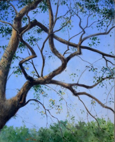 "Branching Out<br>original acrylic painting on 24"" x 30"" stretched canvas, $975.00, S/H$45.00"