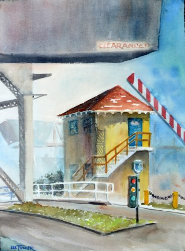 "Poland St. Bridge<br>original watercolor painting, 18"" x 24""<br>$275.00, S/H $26.00"