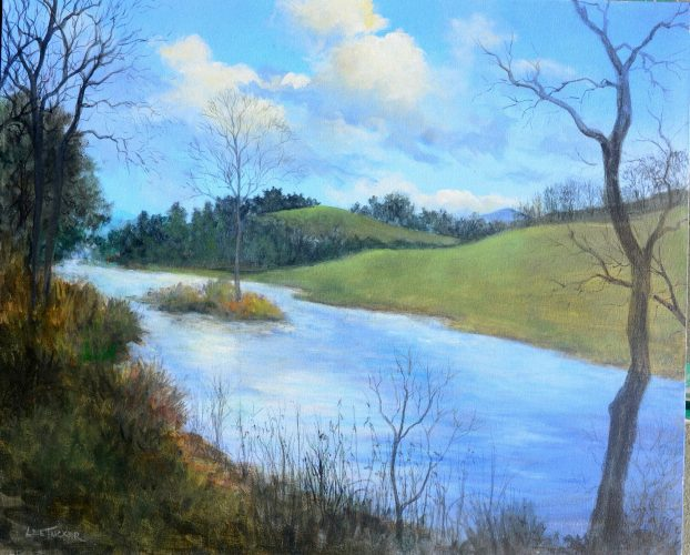 Along the Cane River<br>original acrylic on stretched canvas<br>$995.00, S/H $45.00