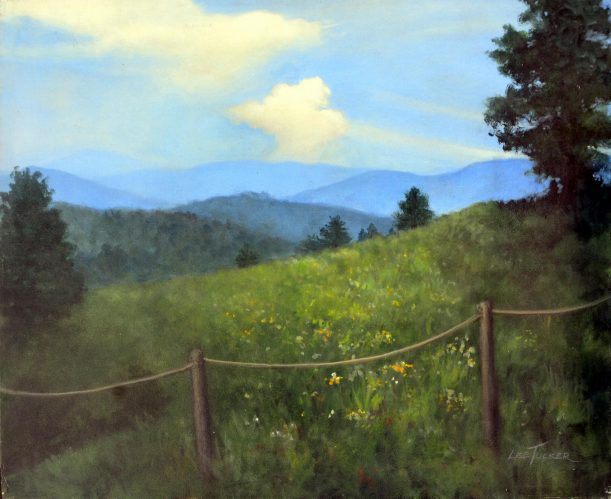 "Sweet Hollow Meadow<br> 24"" x 30"" original acrylic on stretched canvas<br>$1,200.00, S/H $45.00"