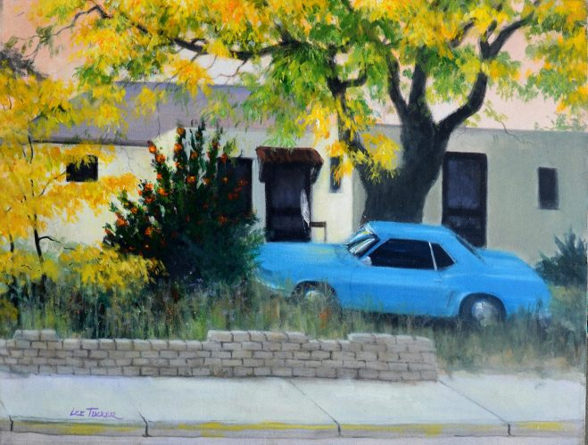 "Off Street Parking<br>original acrylic 24"" x 30"" on stretched canvas<br>$995.00, S/H  $45.00"