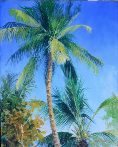 "Palm<br>original acrylic on stretched canvas<br>24""x30"",$2700.00, S/H $45.00"