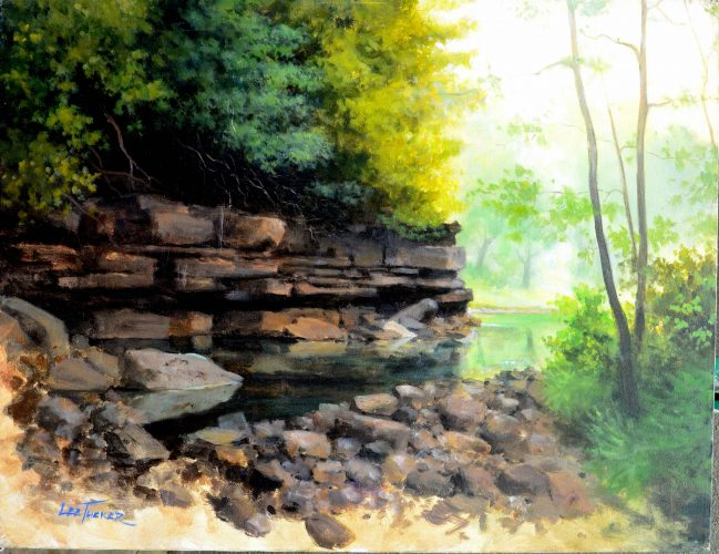 Quarry<br>original acrylic on stretched canvas<br>$2,200, S/H $45.00<br>