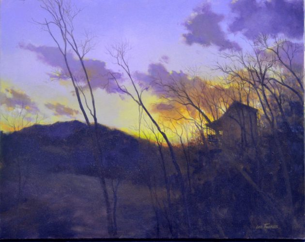 "Ruby's Place<br>hand embellished giclee 24""x 30"" on stretched canvas<br>$650.00, S/H $45.00"