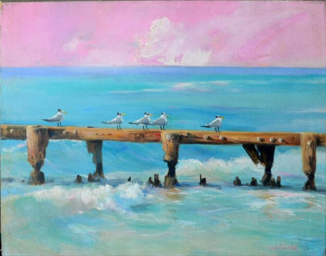 "Terns <br>$original acrylic 24""30"" on stretched canvas<br>$2500.00 S/H $45.00"
