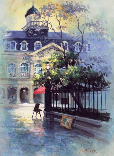 "The Cabildo<br> giclee painting hand embellished by the artist<br>24""x30"" stretched canvas, $650.00, S/H $45.00"