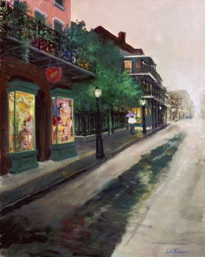 "Rue Royal<br>original acrylic painting on 24"" x 30"" stretched canvas<br>$1850.00, S/H $45.00 stretched canvas<br>$1800.00, S/H $45.00"