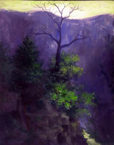 "Dead Tree Canyon<br>24"" x 30"" original acrylic on stretched canvas<br>$985.00, S/H $45.00"