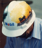 Mobil Oil Hard Hat art